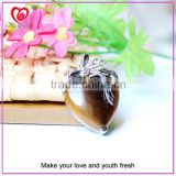 OEM/ODM heart jewelry quartz heart shape necklace stone heart necklace pendant