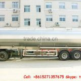 Stainless Straight Round tank tanker trailer road tanker water fuel trailer factory sale Call:86-15271357675
