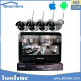 Looline Hot Sale 2.4G Wireless Transmission 4 Channel Wifi Ahd Surveillance Camera System China NVR Kit