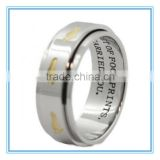Golden Footprints In The Sand Spinner Ring