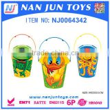 Summer Outdoor Game Sand Beach Toy Plastic Bucket                                                                         Quality Choice