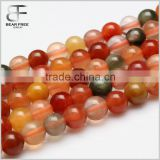 Gorgeous Natural AAA Grade Fu Lu Shou Agate Gemstone Faceted Round Loose Beads Strand for Jewelry Making