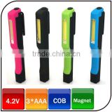 4.5V bright cob led magnet work pen light with beautiful look