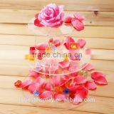 elegant clear assembled acrylic cake stand,acrylic cupcake stand,acrylic bakery display manufacturer