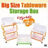 Big Size Tableware Storage box 1 layer/2 layer/3 layer