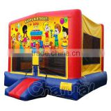 Happy Birthday Bounce House for Party, Inflatable Jumping Bouncer