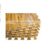 "PIDEGREE Mats Wood Grain Interlocking Foam Anti Fatigue Flooring 2'x2'x3/8"" Tiles"