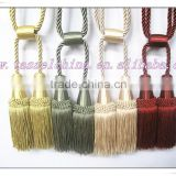 double silk tassel tiebacks for curtains in tassel fringe, curtain tiebacks ball