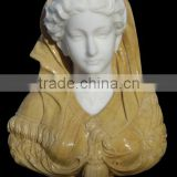hand carving natural stone female marble busts for sale