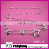 fashion decorative star chain metal belt with rhinestone