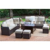 Iron and Aluminum frame Garden Sectional Rattan Corner Sofa/Lounge Rattan Furniture/ Cheap Outdoor Wicker Rattan Furniture set