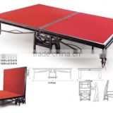 coreat fashionable aluminum outdoor stage,folding portable stage with red carpet with wheels