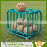 basketball training equipment Foldable basketball trolley , high quality basketball storage cart , folding trolley