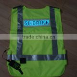 High quality&High luminance Waterproof Oxford cloth EL safety vest / EL Safety clothes / EL safety Clothing