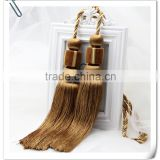 High quality wholesalers curtain accessory rayon material tassel trim tieback for home decor