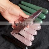 wholesale natural amethyst crystal dildo yoni healing crystal massage wands