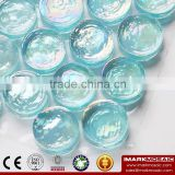 IMARK Penny Round shape Clear Iridescent Glass Mosaic For Swimming Pool Wall Decoration