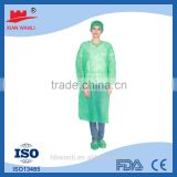 Disposable nonwoven polypropylene Surgical gown/isolation gown/patient gown/medical gown with elastic and knit cuff