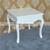 Rectangular wood mdf living room furniture center adjustable height white coffee table