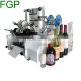 Best quality semi automatic round bottle label applicator machine for oral liquid bottle