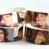 cheap custom/personalized silicone bracelet /arm band with vivid printed photos