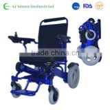 Lightweight power foldable electric wheelchair
