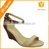 Hot sale large size name brand high wedge shoes for women