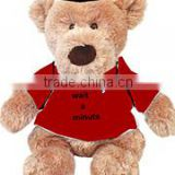 embroidery imprinted promotional logo red t-shirt sitting bear dress scarf beanbag bandana t-shirt bib tie ribbon animal toys