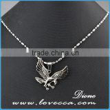 New arrival 2016 hot sale men cheap stainless steel necklace jewelry custom silver eagle pendant