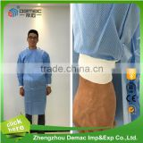 Top quality factory price Disposable nonwoven surgical gown for medical hospital sterile surgical