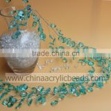 18MM wholesale green Decorative Beaded Branch Stem Wired cystal garland for wedding centerpiece