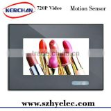 "7"" bus/car Touch screen LCD media advertising display player/digital signage"