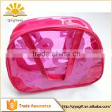 Wholesale recyclable portable cosmetic or swimwear package clear pvc bag with zipper