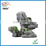 Factory wholesale eco-friendly artificial waterfall decorative aquarium resin rocks for sale