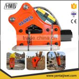 Side type chisel 75mm excavator hydraulic rock hammer