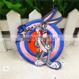 factory hot sell cartoon character Bugs Bunny embroidery patches