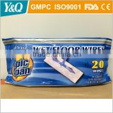 Disposable floor cleaning wet floor wipe and mop cleaning cloth