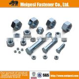 China Manufacture Supply high quality good price carbon steel/stainless steel standard hex bolt and nut