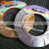 Custom made PVC one step forming technical car bumper protector decorative car chrome strip trim