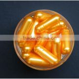 empty vegetable Capsules yellow clam shell