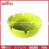 Economic car outdoor use solid color light yellow plastic reusable ashtray with custom logo