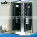 PROWAY 900*900*2200mm 5mm Blue Tempered Front Glass Shower Cabinet