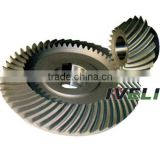 bevel gear for harvesting machine