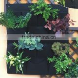 reusable hydroponic Polyster Material and Pots Type Living Wall Pocket Planter Vertical Garden