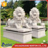 A couple of marble lion statue for sale NTMS-019LI