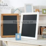 Low moq high quality indoor display chalkboard, wooden message board