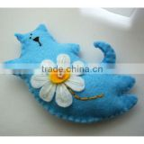 Hot sell Felt decoration Handmade cat made in China