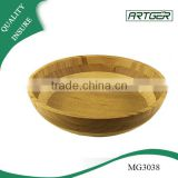 Tableware lacquer round salad bamboo bowl