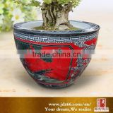 New year excellent quality red glazed handmade big ceramic pots for garden decoration