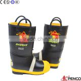 fire safety boots fire retardant rubber waterproof oilproof acid resistant steel toe cap steel ankle feet protection CE items